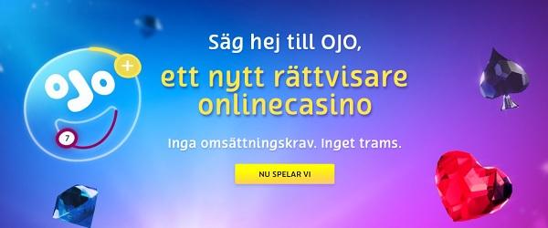 PlayOJO – Nytt casino med casinobonus i Sverige