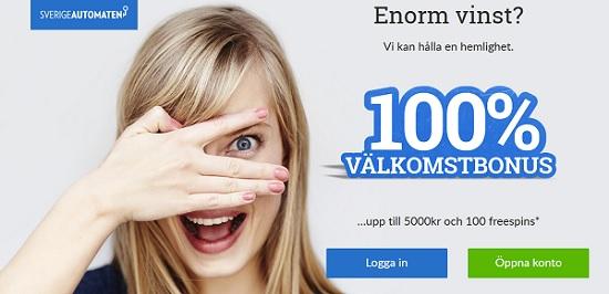 Sverigeautomaten casinobonus 2018